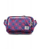 ()の古着「ウエストバッグ」|ピンク×ブルー