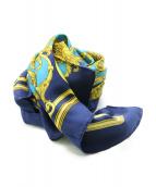 HERMES(エルメス)の古着「カレ90シルクスカーフ」|ブルー
