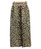 ()の古着「ジャガードタイトスカート」|ホワイト×ブラウン