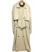 EMMA CLOTHES(エマクロシーズ)の古着「オーバーサイズヨークトレンチコート」 ベージュ