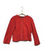 agnes b(アニエスベー)の古着「スウェットカーディガン」|レッド