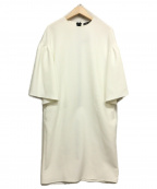 YOKO CHAN()の古着「ドロップショルダーフレアスリーブドレス」|ホワイト