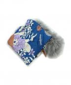 manipuri(マニプリ)の古着「スカーフ付ティペット」 グレー×ネイビー