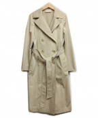 M-PREMIER(エムプルミエ)の古着「スパンライクロングトレンチコート」 ベージュ