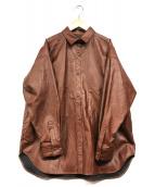 ()の古着「エコレザーCPOジャケット」|ブラウン