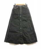 DIESEL(ディーゼル)の古着「カットオフフロントボタンスカート」|ブラック