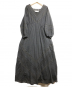 sara mallika(サラマリカ)の古着「レースブラウスワンピース」|ブラック