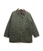 ()の古着「オイルドキルティングジャケット」|グリーン