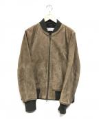 ETONNE(エトネ)の古着「ゴートレザージャケット」|ベージュ