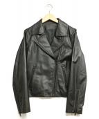 LVEU(-)の古着「ラムレザージャケット」|ブラック
