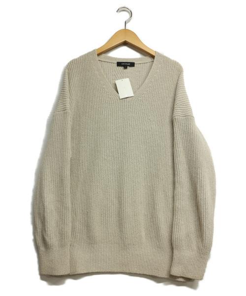 UNTITLED(アンタイトル)UNTITLED (アンタイトル) パイルニットプルオーバー ベージュ サイズ:2の古着・服飾アイテム