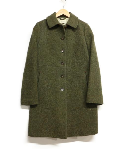 PAUL SMITH(ポールスミス)PAUL SMITH (ポールスミス) ウールステンカラーコート グリーン サイズ:40の古着・服飾アイテム