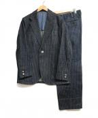 The Stylist Japan(ザスタイリストジャパン)の古着「デニム3Pセットアップ」|インディゴ