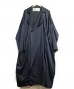 Dulcamara(ドゥルカマラ)の古着「よそいきダブルロングダブルコート」 ネイビー