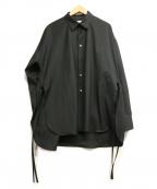 Toironier(トワロニエ)の古着「ルーズシャツ」 ブラック