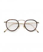 金子眼鏡(カネコメガネ)の古着「角ボストン」|ゴールド