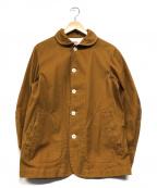 DANTON(ダントン)の古着「ダウンプルーフラウンドカラージャケット」|ブラウン