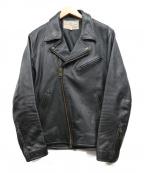 AVIREX()の古着「カウダブルライダースジャケット」|ブラック