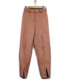 Ameri(アメリ)の古着「COMFY SLIM TAPERED PANTS」|ピンク
