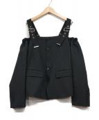 DIESEL Black Gold(ディーゼル ブラック ゴールド)の古着「デザインオフショルダーブラウス」|ブラック