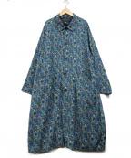 HARE()の古着「総柄コート」|ブルー