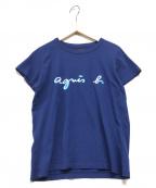 agnes b(アニエスベー)の古着「H/Sロゴカットソー」|ネイビー