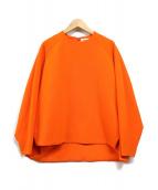 ENFOLD(エンフォルド)の古着「プルオーバーブラウス」|オレンジ