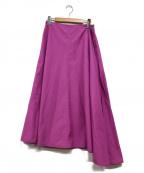 YLEVE(イレーヴ)の古着「フレアマキシスカート」|パープル
