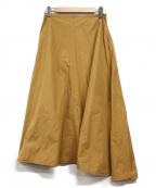 YLEVE(イレーヴ)の古着「フレアマキシスカート」|ブラウン