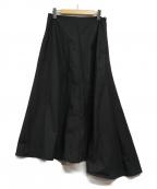 YLEVE(イレーヴ)の古着「フレアマキシスカート」|ブラック