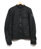 BELSTAFF()の古着「シングルライダースジャケット」|ブラック