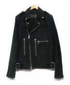 ALL SAINTS()の古着「ダブルライダースジャケット」|ブラック