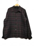 ()の古着「デザインシャツ」|ブラック×パープル