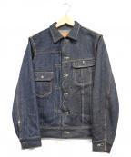 STUDIO DARTISAN(ステュディオダルチザン)の古着「40thスヴィンゴールドクレイジーデニムジャケット」|インディゴ