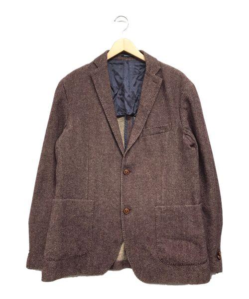 Henry Cotton's(ヘンリーコットンズ)Henry Cotton's (ヘンリーコットンズ) ウール混ジャケット ボルドー サイズ:52の古着・服飾アイテム