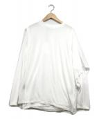 PHEENY(フィーニー)の古着「Cotton nylon seer layered tee」|ホワイト