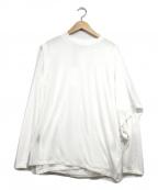 PHEENY(フィーニー)の古着「Cotton nylon seer layered tee」 ホワイト