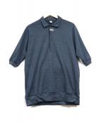alk phenix(アルクフェニックス)の古着「ハーフボタンポロシャツ」|ネイビー