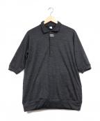alk phenix(アルクフェニックス)の古着「ハーフボタンポロシャツ」|ブラック