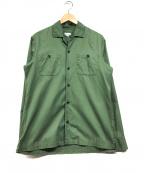 STEVEN ALAN(スティーブンアラン)の古着「ダブルポケットシャツ」|グリーン