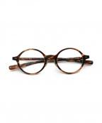 金子眼鏡(カネコメガネ)の古着「セルロイドフレーム眼鏡」|ブラウン