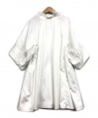 styling/(スタイリング)の古着「スタンドカラーギャザーブラウス」|ホワイト