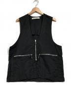 MUZE(ミューズ)の古着「ジップベスト」 ブラック