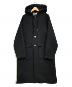 MUZE(ミューズ)の古着「フーデッドコート」 ブラック