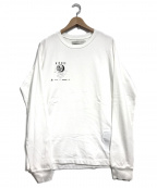 MUZE(ミューズ)の古着「L/SプリントTシャツ」 ホワイト