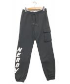 ()の古着「brushed jogger pants」 ブラック