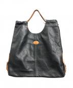 TODS(トッズ)の古着「サイドアジャスターレザートートバッグ」|ブラック
