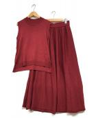 Lois CRAYON(ロイスクレヨン)の古着「セットアップニット」|ボルドー