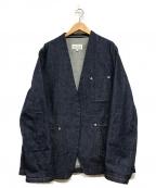 Martin Margiela 10(マルタンマルジェラ 10)の古着「ノーカラーデニムジャケット」|インディゴ