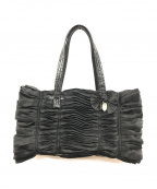 EPOCA(エポカ)の古着「フリルハンドバッグ」|ブラック